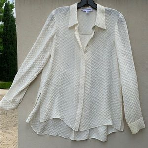 Elizabeth and James pleated back blouse